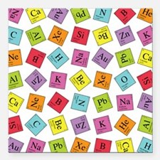 "periodic_ipad.png Square Car Magnet 3"" x 3"""
