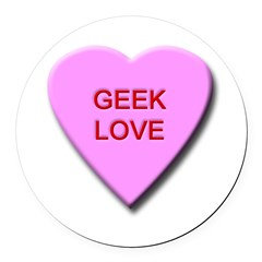 geeklove.png Round Car Magnet