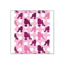 "pink_Poodle_ipad.png Square Sticker 3"" x 3"""