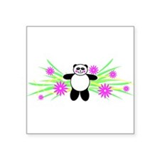"Pretty Panda Square Sticker 3"" x 3"""