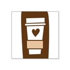 "latte.png Square Sticker 3"" x 3"""