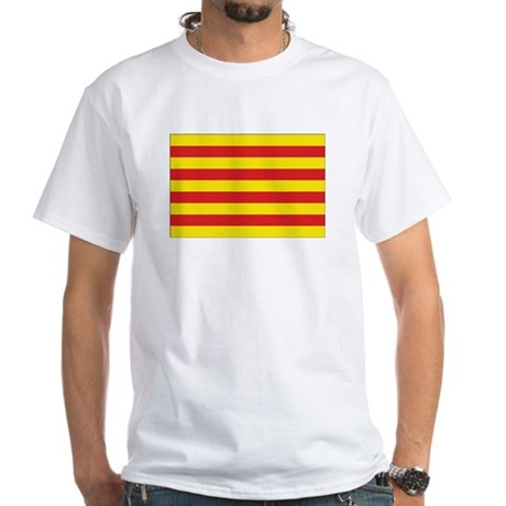 Catalonia Flag White T-Shirt