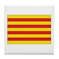Catalonia Flag Tile Coaster