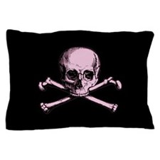 Pink Skull and Crossbones Pillow Case