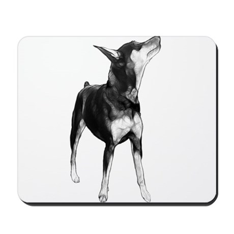 Miniature Pinscher Sketch Mousepad