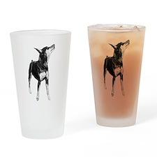 Miniature Pinscher Sketch Drinking Glass
