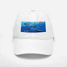 Shark Gathering Baseball Baseball Cap