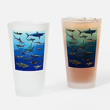 Shark Gathering Drinking Glass