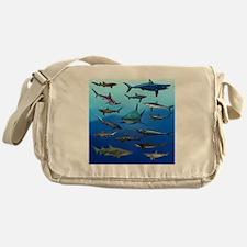 Shark Gathering Messenger Bag