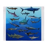 Hammerhead shark Fleece Blankets