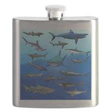 Shark Gathering Flask