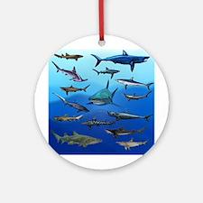 Shark Gathering Ornament (Round)