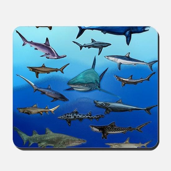 Shark Gathering Mousepad