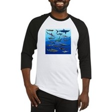 Shark Gathering Baseball Jersey