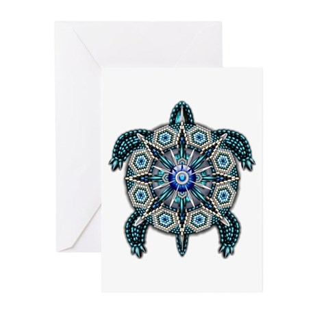 Native American Turtle 01 Greeting Cards (Pk of 10