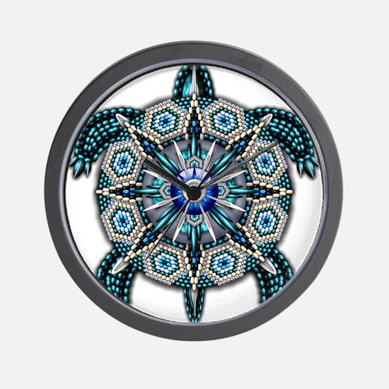 Native American Turtle 01 Wall Clock