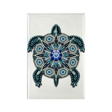 Native American Turtle 01 Rectangle Magnet