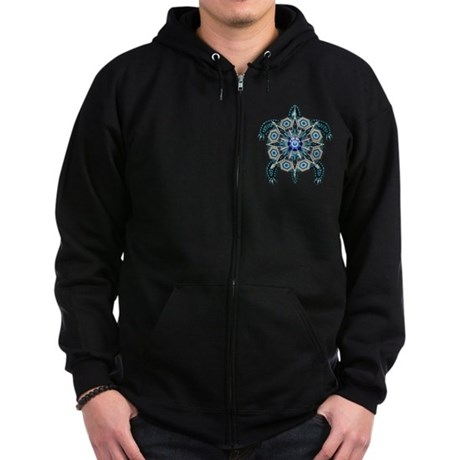 Native American Turtle 01 Zip Hoodie (dark)