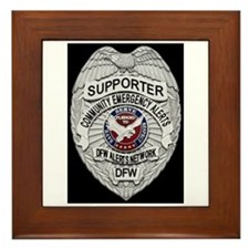 DFW ALERTS SUPPORTER Framed Tile