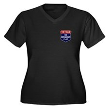 100 Missions Women's Plus Size V-Neck Dark T-Shirt