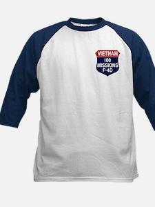 100 Missions Kids Baseball Jersey