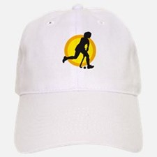 female hockey player Baseball Baseball Cap