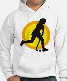 female hockey player Hoodie