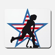 female hockey player Mousepad