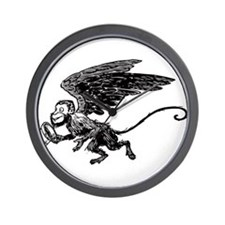 Winged Monkey Wall Clock