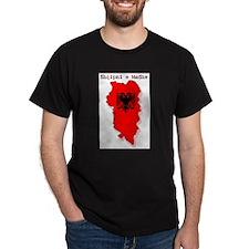Great Albania - Shqipnia e Madhe Black T-Shirt