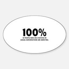 100% Statistics Decal