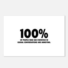 100% Statistics Postcards (Package of 8)