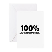 100% Statistics Greeting Cards (Pk of 10)