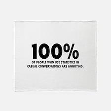 100% Statistics Throw Blanket