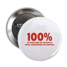 "100% Statistics 2.25"" Button (10 pack)"