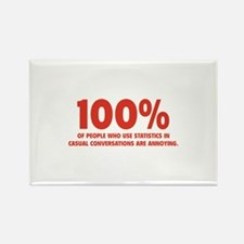 100% Statistics Rectangle Magnet (10 pack)