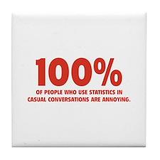 100% Statistics Tile Coaster
