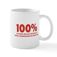 100% Statistics Small Mug