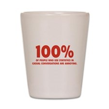 100% Statistics Shot Glass