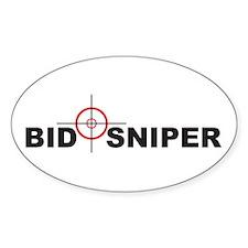Bid Sniper Oval Decal