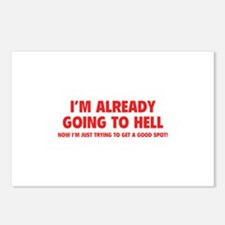 I'm already going to hell Postcards (Package of 8)