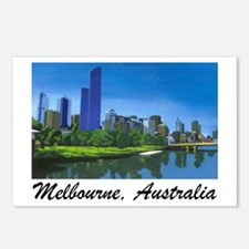 Melbourne Skyline Painting Postcards (Pack of 8)