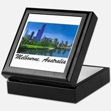 Melbourne Skyline Painting Keepsake Box
