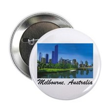 Melbourne Skyline Painting Button/Badge (100 pack)