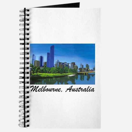 Melbourne Skyline Painting Journal
