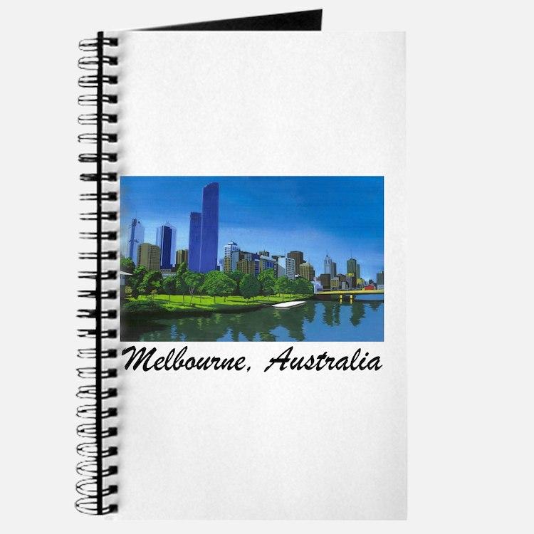 Melbourne Skyline Painting Journal