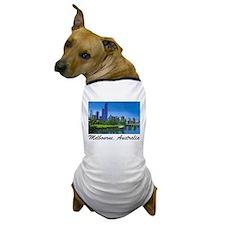 Melbourne Skyline Painting Dog T-Shirt
