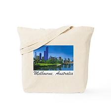 Melbourne Skyline Painting Tote Bag