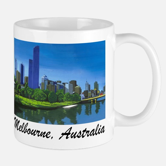 Melbourne Skyline Painting Mug