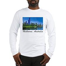 Melbourne Skyline Painting Long Sleeve T-Shirt